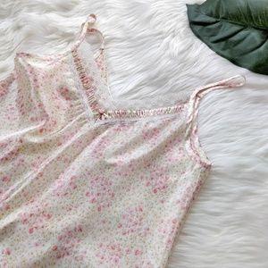 OSCAE DE LA RENTA Pink Label Satin Nightgown Sz S